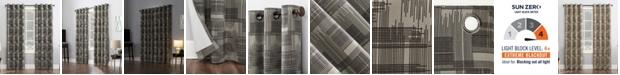 Sun Zero Marcus Crosshatch Thermal Extreme 100% Blackout Curtain Panel 52x96