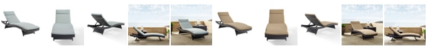 Crosley Biscayne Chaise Lounge With Cushion