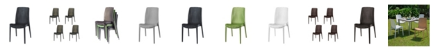 Lagoon Rue Stackable Rattan Dining Chair, Set of 4