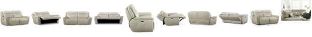 Furniture Lenardo 2-Pc. Leather Sofa with 2 Power Recliners, Created for Macy's