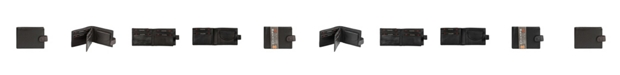 CHAMPS Genuine Leather RFID Blocking Center Pocket Tab Wallet