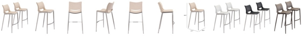 Zuo Ace Bar Chair, Set of 2