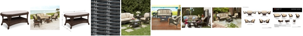 """Furniture Monterey Wicker 40"""" x 22"""" Oval Outdoor Coffee Table, Created for Macy's"""