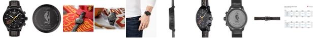 Tissot Men's Swiss Chronograph Chrono XL NBA Cleveland Cavaliers Black Leather Strap Watch 45mm
