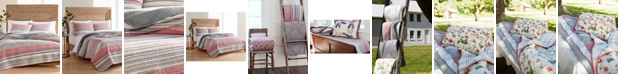 Martha Stewart Collection Rustic Yarn-Dyed Stripe Quilt and Sham Collection, Created for Macy's