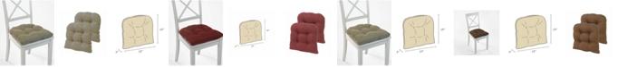 Klear Vu The Gripper Non-Slip Tyrus Tufted Chair Pad Cushion, Set of 2
