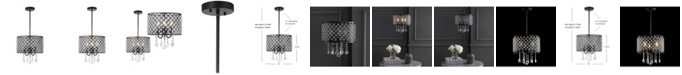 "JONATHAN Y Gigi 13"" Adjustable LED Drop Pendant"