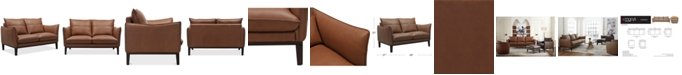 """Furniture Chanute 58"""" Leather Loveseat, Created for Macy's"""