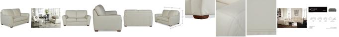 "Furniture Jaspene 68"" Leather Loveseat, Created for Macy's"