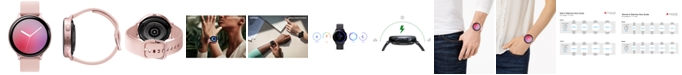 Samsung Galaxy Active 2 Blush Silicone Strap Touchscreen Smart Watch 44mm