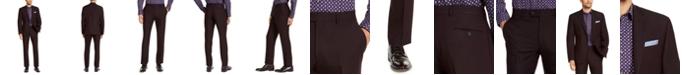 Perry Ellis Men's Slim-Fit Stretch Burgundy Solid Suit