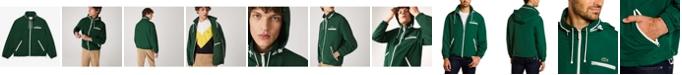 Lacoste Men's Regular Fit Long Sleeve Water-Repellent Lined Lightweight Windbreaker Jacket