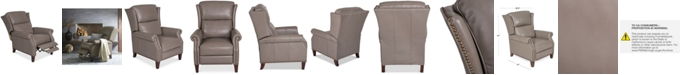 Furniture Anguria Pushback Leather Recliner