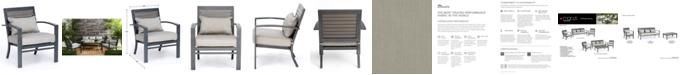 Furniture CLOSEOUT! Marlough II Aluminum Outdoor Club Chair with Sunbrella® Cushion, Created for Macy's