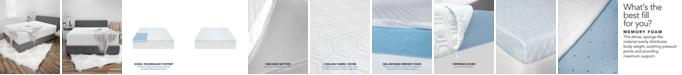 """SensorGel CLOSEOUT! Luxury iCOOL 4.5"""" Gel-Infused Memory Foam Twin XL Mattress Topper"""