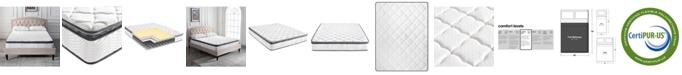 """Sleep Trends Melody 9"""" Medium Firm Hybrid Pillow Top Mattress, Quick Ship, Mattress In A Box- Full"""