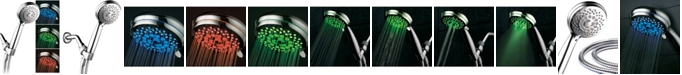 HotelSpa 7-setting LED Hand Shower with Color-Changing Temperature Sensor