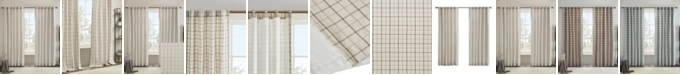 "Madison Park Anaheim Plaid Rod Pocket and Back Tab Window Panel with Fleece Lining 50"" x 84"""