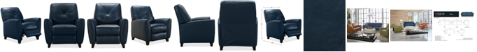 Furniture Myia Leather Pushback Recliner, Created for Macy's