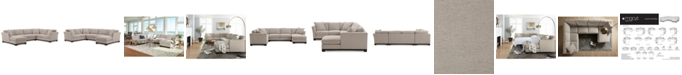 "Furniture Elliot II 138"" Fabric 3-Pc. Chaise Sectional, Created for Macy's"