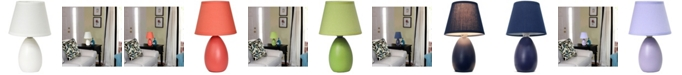 All The Rages Simple Designs Mini Egg Oval Ceramic Table Lamp