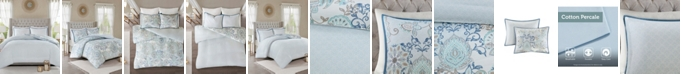 JLA Home Madison Park Isla Full/Queen 3 Piece Cotton Printed Reversible Duvet Cover Set
