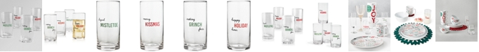 The Cellar Holiday Sayings Highball Sentiments Glasses, Set of 4, Created for Macy's