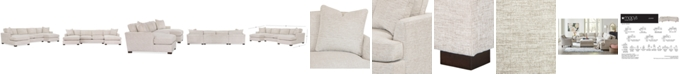 Furniture Juliam 3-Pc. Fabric Double Chaise Sofa, Created for Macy's