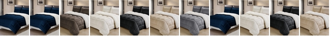 Cathay Home Inc. Ultimate Luxury Reversible Micromink and Sherpa Twin Bedding Comforter Set