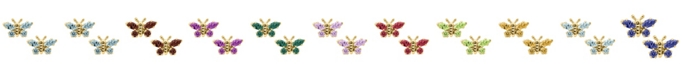Macy's Children's Birthday Cubic Zirconia Butterfly Earrings in 14k Yellow Gold