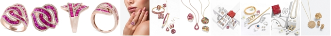 EFFY Collection EFFY® Amoré Certified Ruby (3-1/2 ct. t.w.) & Diamond (1/2 ct. t.w.) Ring in 14k Rose Gold (Also Available in Sapphire)