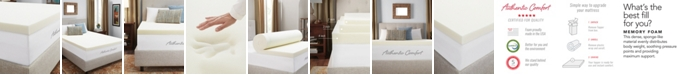"""Authentic Comfort CLOSEOUT! 3"""" Breathable Memory Foam King Mattress Topper"""