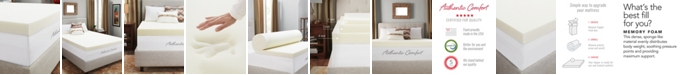 """Authentic Comfort 4"""" Breathable Memory Foam Full Mattress Topper"""