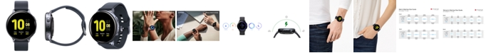 Samsung Galaxy Active 2 Black Silicone Strap Touchscreen Smart Watch 44mm