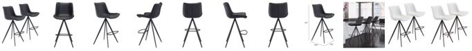 Zuo Aki Bar Chair, Set of 2