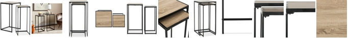 Furniture Callia Stacking End Table, Quick Ship