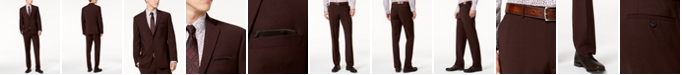 Bar III Men's Slim-Fit Active Stretch Wine Solid Suit Separates, Created for Macy's