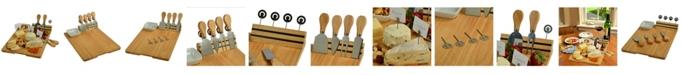 Picnic At Ascot Windsor hardwood Cheese Board Set -Tools, Cheese Markers, Bowl