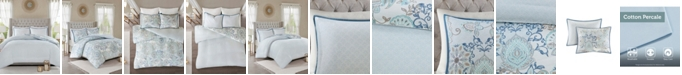 JLA Home Madison Park Isla King/California King 3 Piece Cotton Printed Reversible Duvet Cover Set
