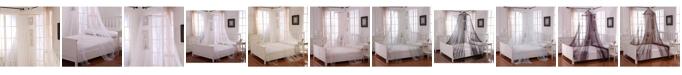 Epoch Hometex inc Cottonloft Oasis Round Hoop Sheer Mosquito Net Bed Canopy