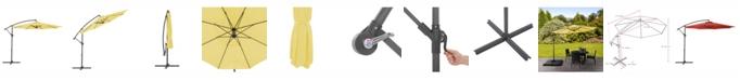 CorLiving Distribution UV Resistant Offset Patio Umbrella