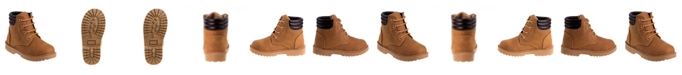 Josmo Rugged Bear Big Boys and Girls Casual Boots with Lace Up Closure