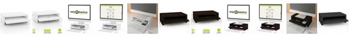Way Basics Deluxe 2-Shelf Monitor Stand
