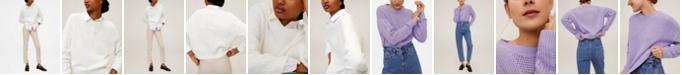 MANGO Openwork Cotton Sweater