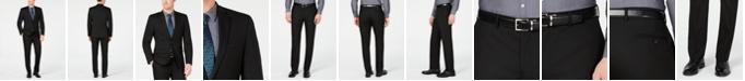 Van Heusen Men's Slim-Fit Flex Stretch Wrinkle-Resistant Black Solid Suit