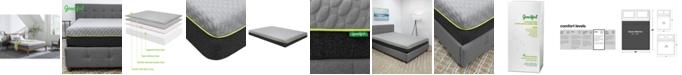 "Goodful 10"" Bamboo Charcoal Memory Foam Plush Mattress- Queen, Mattress in a Box"