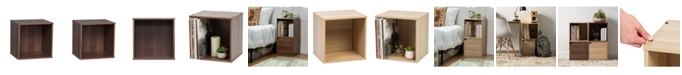 IRIS USA Baku Modular Wood Cube Box