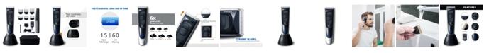 Surker Hatteker HC-577 Home-Pro Rechargeable Cordless Titanium Ceramic Hair Clipper 14 Piece Set for Men