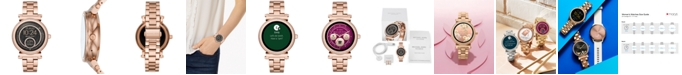 Michael Kors Access Women's Sofie Rose Gold-Tone Stainless Steel Bracelet Touchscreen Smart Watch 42mm