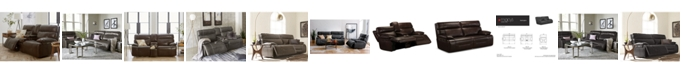 Furniture Barington Leather Power Reclining Sofa with Power Headrest and USB Power Outlet Collection